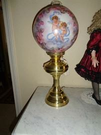 hand painted lamp