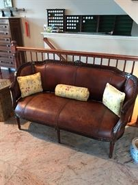 All leather settee