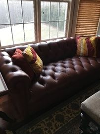 Gorgeous all leather tufted sofa