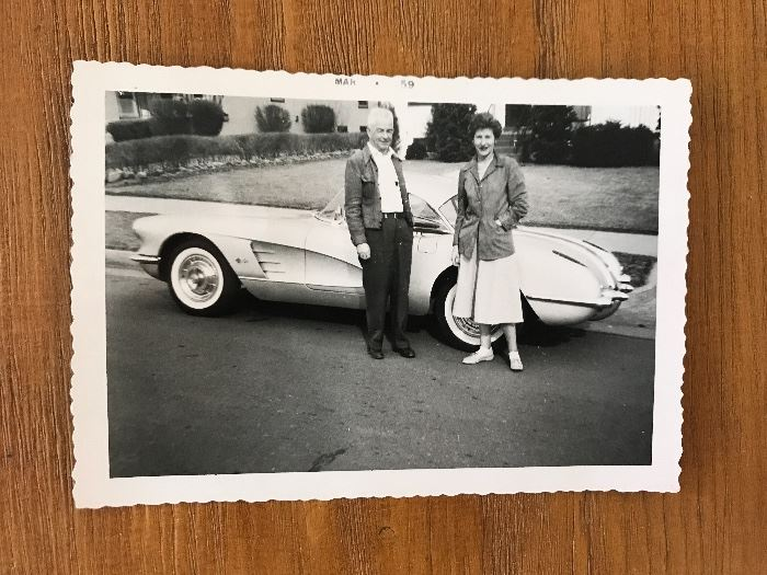 Dated 1959 pictures of Corvette owners