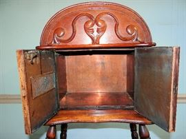 Copper Lined - Antique Tobacco / Cigar Humidor Cabinet