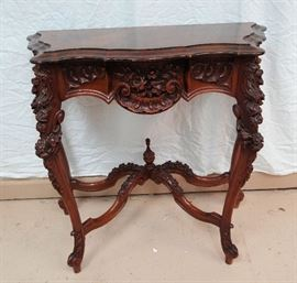 Lovely Ornate Carved Console Table