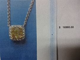 Fancy Brownish Yellow Diamond Necklace