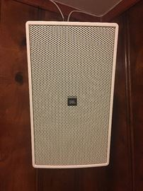 A pair of JBL Control 29 Speakers. Crystal clear sound. Great for your home theater.