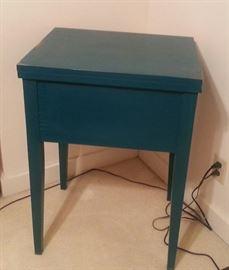 repurposed vintage sewing cabinet