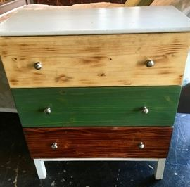 Tri-Color Chest of Drawers