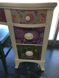 Sharon Gretza's adorable Fabric-Front-Drawers