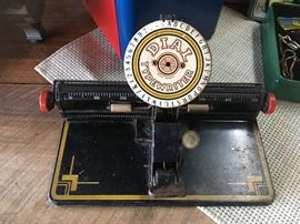 "Antique ""DIAL TYPEWRITER"" (Really great piece!)"