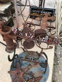 Cast Water Pump and Other Western Decor