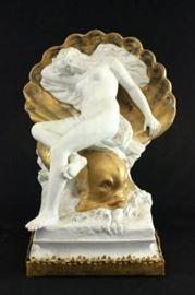 Lot 19: Unglazed French Porcelain Sculpture