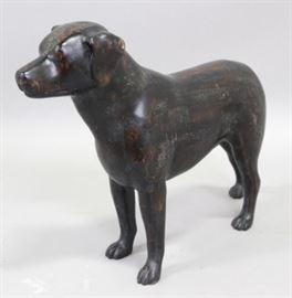 Lot 7: Carved Wood Dog