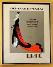 Erte Poster, Circle Gallery, Dallas