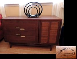 Mid Century Modern Buffet sold by Galveston Company, Schreiber & Miller  Furniture Company,  Made by American of Martinsville #6800