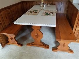 Country Dining Table/Benches