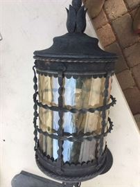 3 Extra large Minka hanging light fixtures w/chain         We would like to sell all lights before the sale. Please contact Mickey if interested 760-519-1665