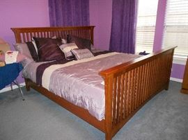 King  Craftsman style Bed