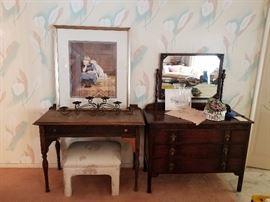 Antique dresser and desk is sold
