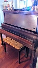 Vintage Adam Schroff upright piano, needs tuning