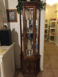 Willow Tree, Precious Moments, curio cabinet