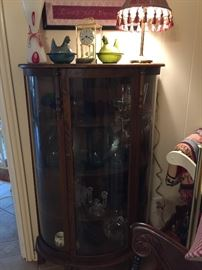 Bow -front china cabinet