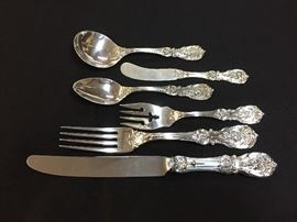 "Reed & Barton ""Francis I"":  6 piece place settings, service for 8"
