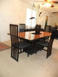 Contemporary Italian dining set purchased at Abode Furniture in the late 90's; mint condition