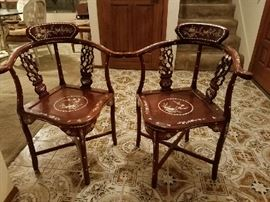 asian inlay chairs