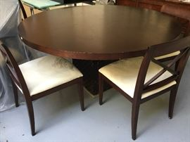 4 Dining Chairs poly suede $125 each