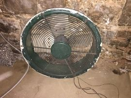 Metal attic fan