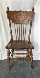 "Vintage Heywood Wakefield ""Kissing Dragon"" Chairs (6)"