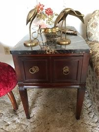 Side tables with marble top