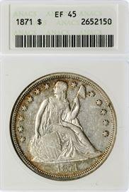1871 1 XF 45 ANACS