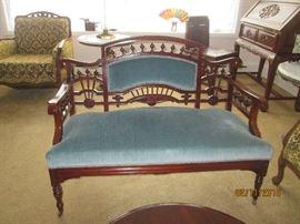Arts & Craft Settee   Original Upholstery