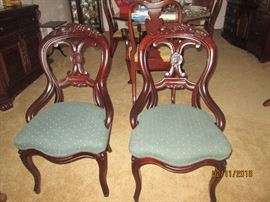 Victorian Side Chairs     Ex. Condition