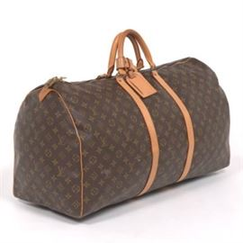 Louis Vuitton Keepall 55 Monogram Canvas Travel Bag