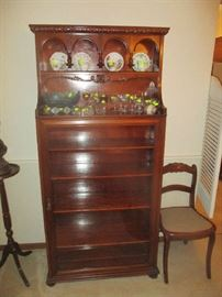 Antique bookcase or display case possibly by Carl forslund
