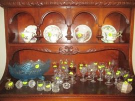 Cups and saucers, glassware and miscellaneous