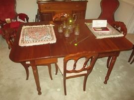 Carl forslund dining room table 6 chairs in excellent condition