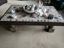 Very interesting coffee table with shels