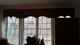 window treatments. Make sure you measure you windows before you come!! very nice