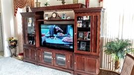 Beautiful three piece wall entertainment center