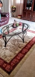 Coffee table & rug