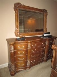 Matching large dresser and mirror