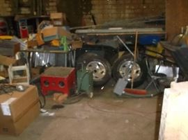 ford truck wheels, sandblaster and misc.