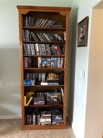 book cases and many CD's  & DVD's