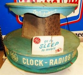 Vintage Wood GE Clock/Radio Store Display