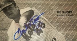 Baseball Autograph- Tug McGraw