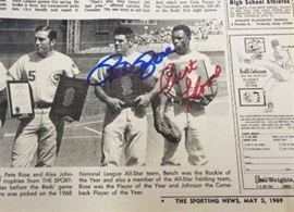 Baseball Autograph- Pete Rose and Curt Flood