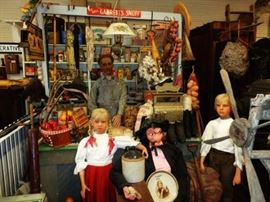 Country Store Stock, Life Size Wax Figures