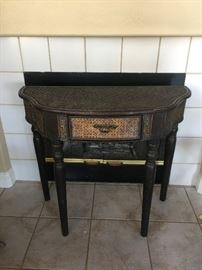 Crescent Wicker Accent Table